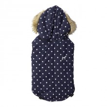 House Of Paws Polka Dot Gilet Navy