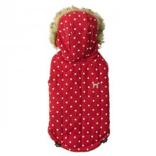 House Of Paws Polka Dot Gilet Red