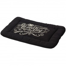 House Of Paws Good Dog Linen Crate Mat- Black
