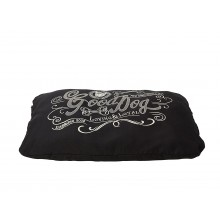 House Of Paws Good Dog Linen Cushion - Black