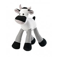 House Of Paws Noisy Cord Cow Toy