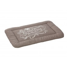 House Of Paws Good Dog Linen Crate Mat- Grey