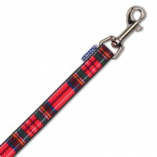 Ancol Red Tartan Nylon Dog Lead 19mm x 1.2m