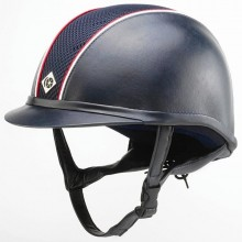 Charles Owens Leather Look AYR8 Hats - Navy/Red/White