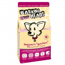 Barking Heads Tiny Paws Quackers Grain Free Duck Dog Food 1.5kg