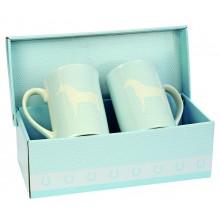 Horse Blue Mugs