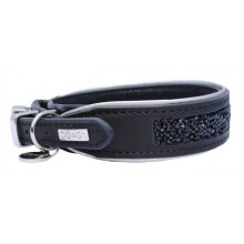 DO&G Precious Stones Dog Collar Black/Silver