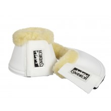Eskadron Bell Boots with sheepskin tops - White