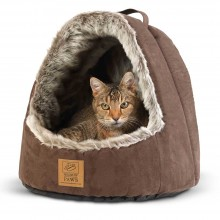 House of Paws Hooded Artic Fox Cat Bed