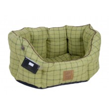 House Of Paws Classic Tweed Green Oval Bed